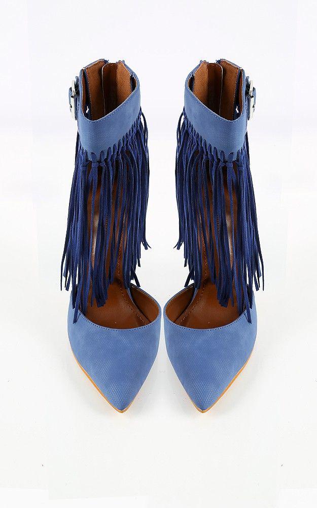 Shoe Republic LA Grammy Fringe D'orsay Pumps   MakeMeChic.com