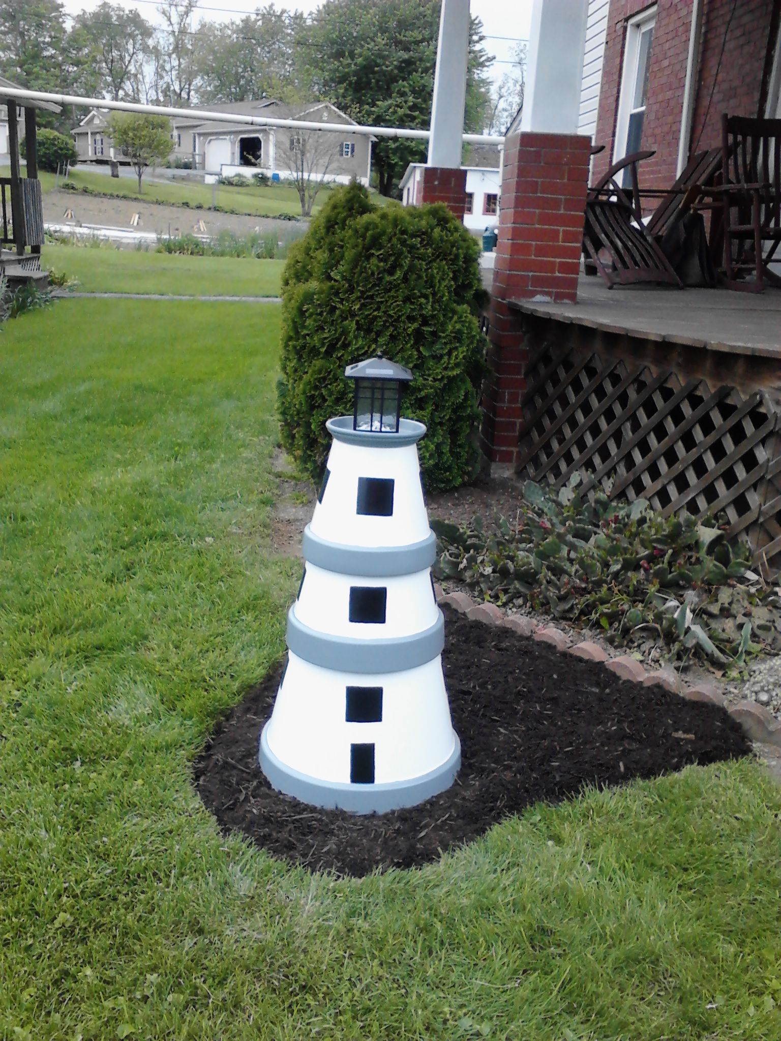 Covering Up The Well Casing With A Lighthouse For Gerri
