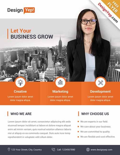 Corporate Business Free Flyer Psd Template  HttpFreepsdflyer