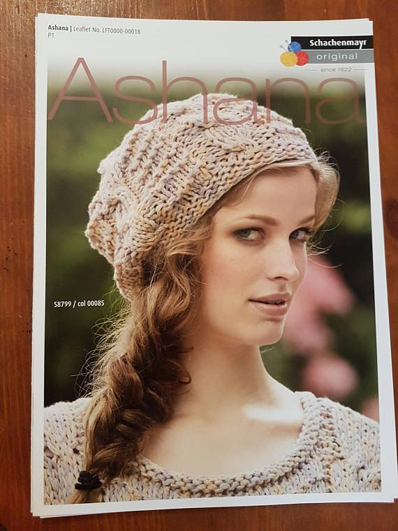 Hat Knitting Pattern, Ladies Hat Pattern, Hat with Cable Pattern ...