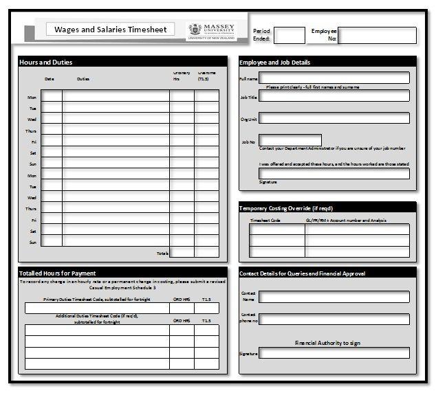 Employee Timesheet Template template Templates, Timesheet