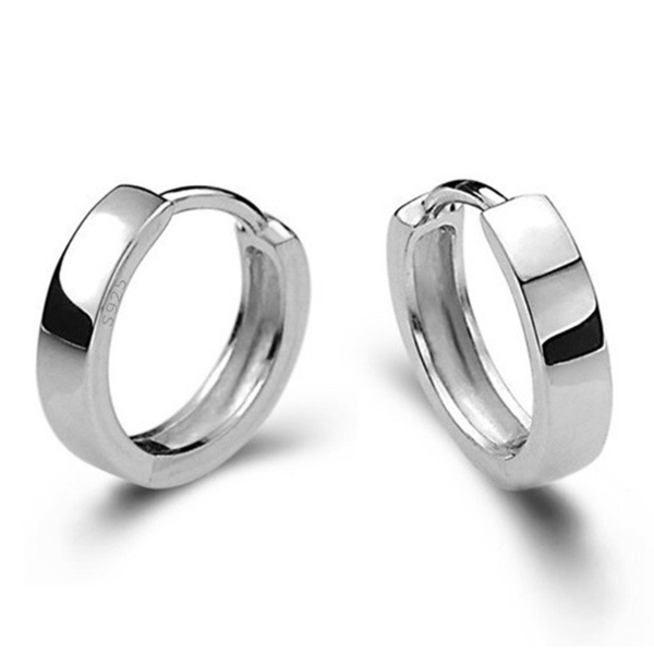 8c288959b16d8 12mm Silver Huggie Hoop Earrings - For Men or Women in 2019 | gift ...