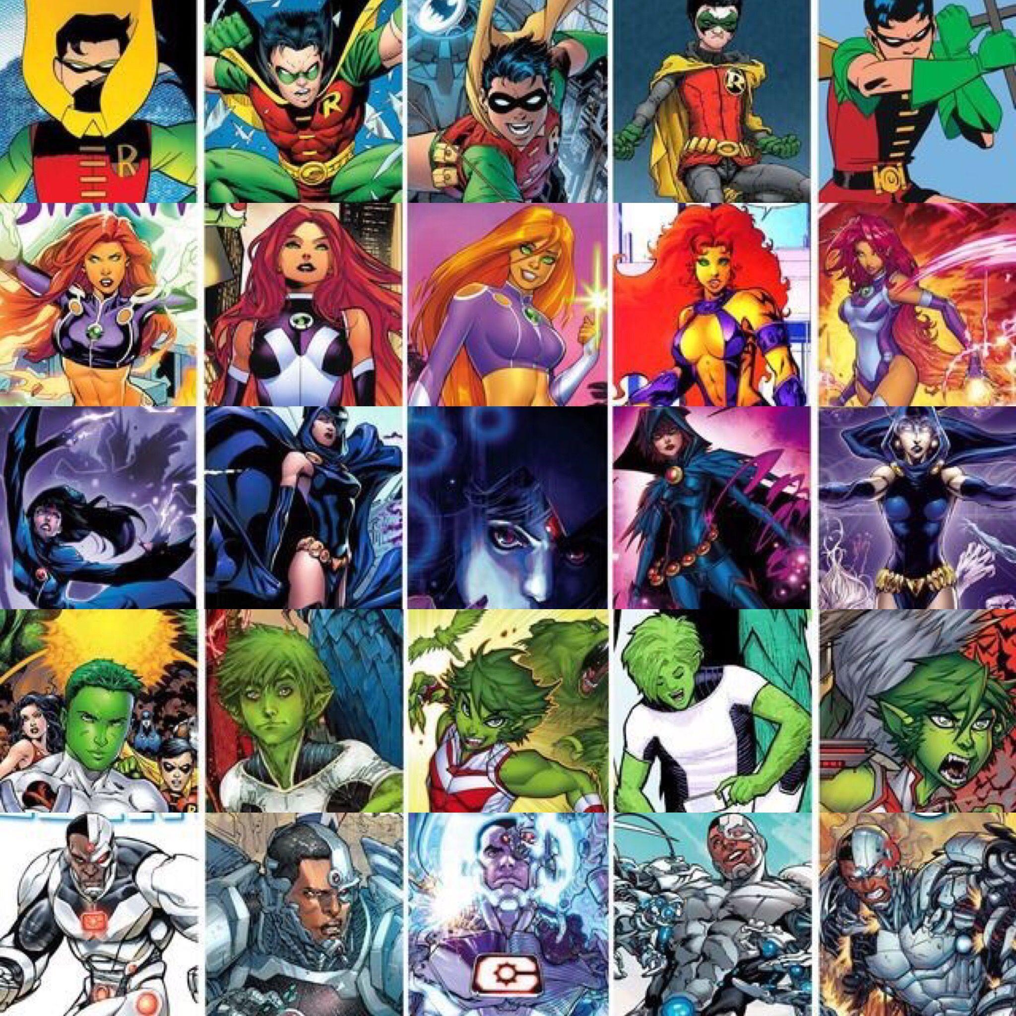 Teen Titans Robin Starfire Raven Beast Boy Cyborg -6661
