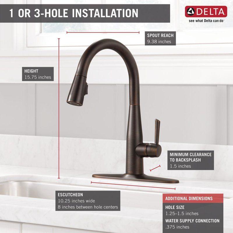 essa pull down single handle kitchen faucet with magnatite docking rh pinterest co uk