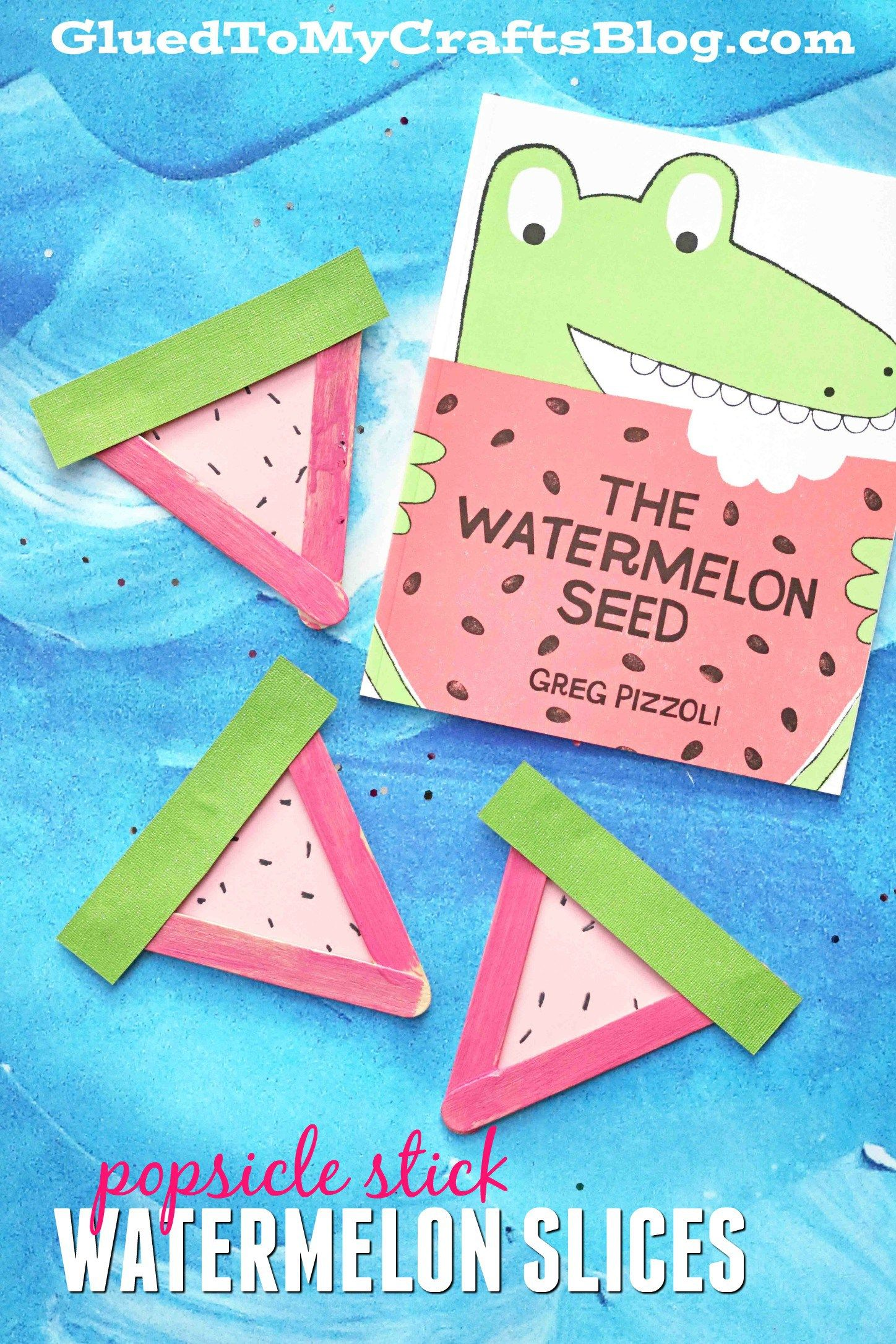 Popsicle Stick Watermelon Slices