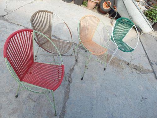 75bcd50c199409 Set 4 alte Spaghetti-Stühle zum aufarbeiten in Sachsen-Anhalt - Bitterfeld