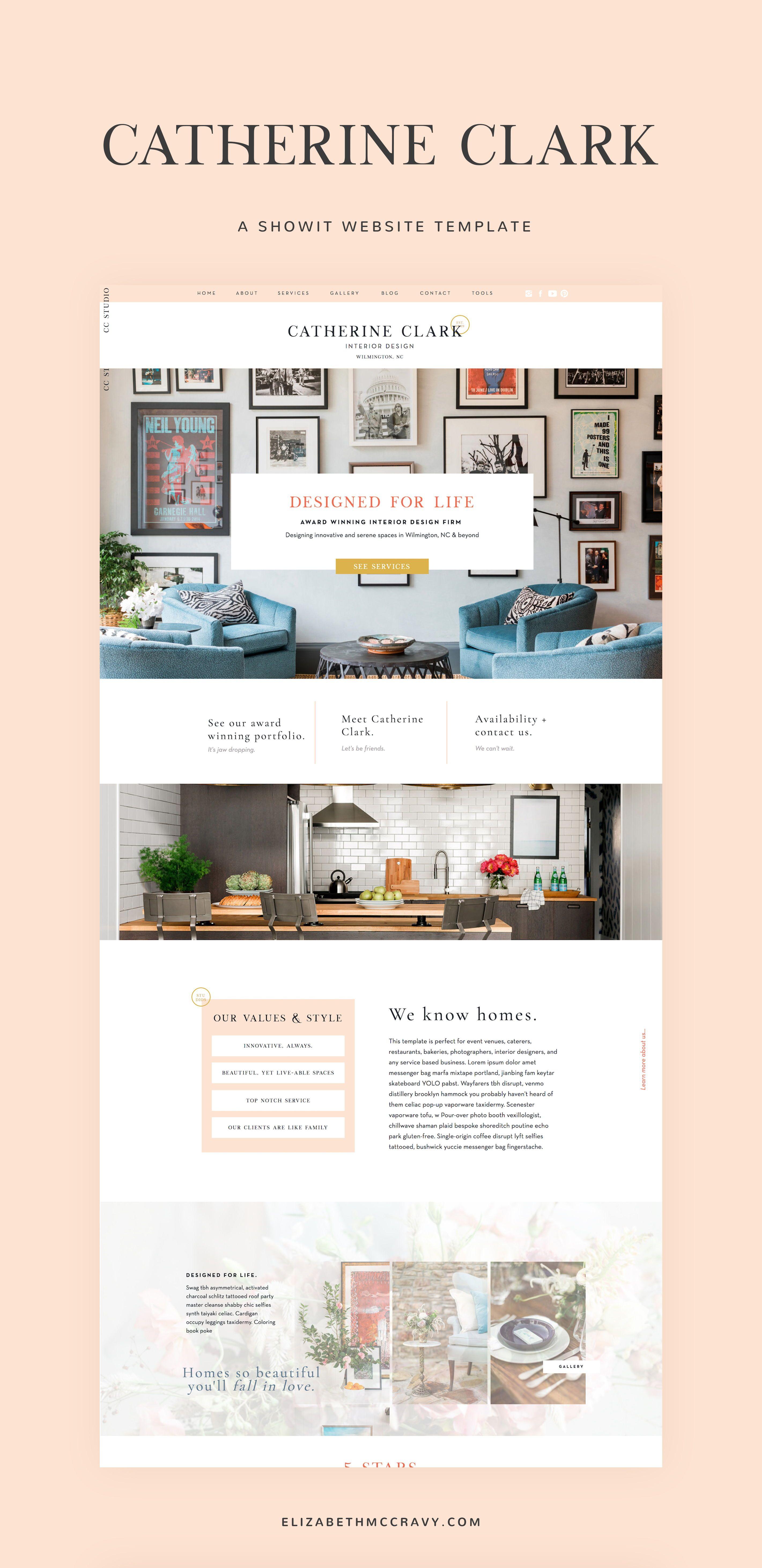 Showit Website Template Built For The Elegant Interior Designer