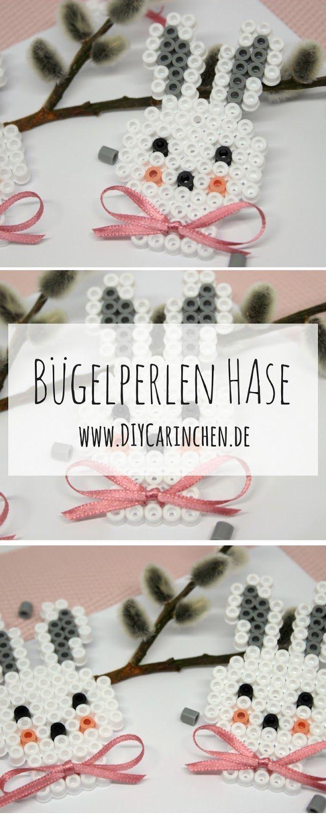 DIY Hasen aus Bügelperlen selber machen - Geschenkidee zu Ostern #gifts