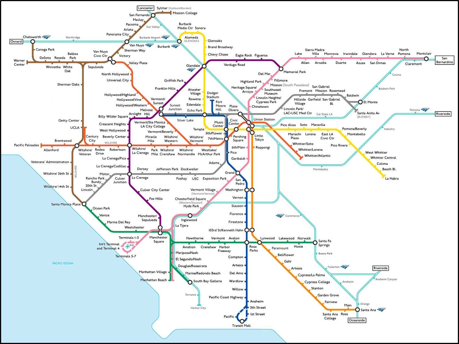Fake LA Transit An Even Crazier Dream Than One For The Bay Area - Los angeles metro expansion map