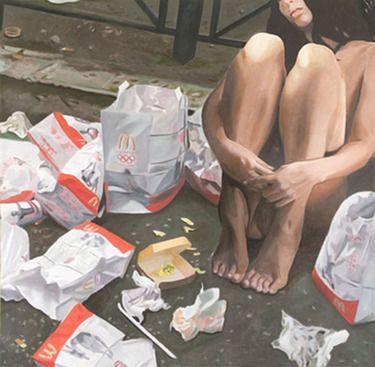 "Saatchi Online Artist Claudio Di Carlo; Painting, ""Fast food"" #art"