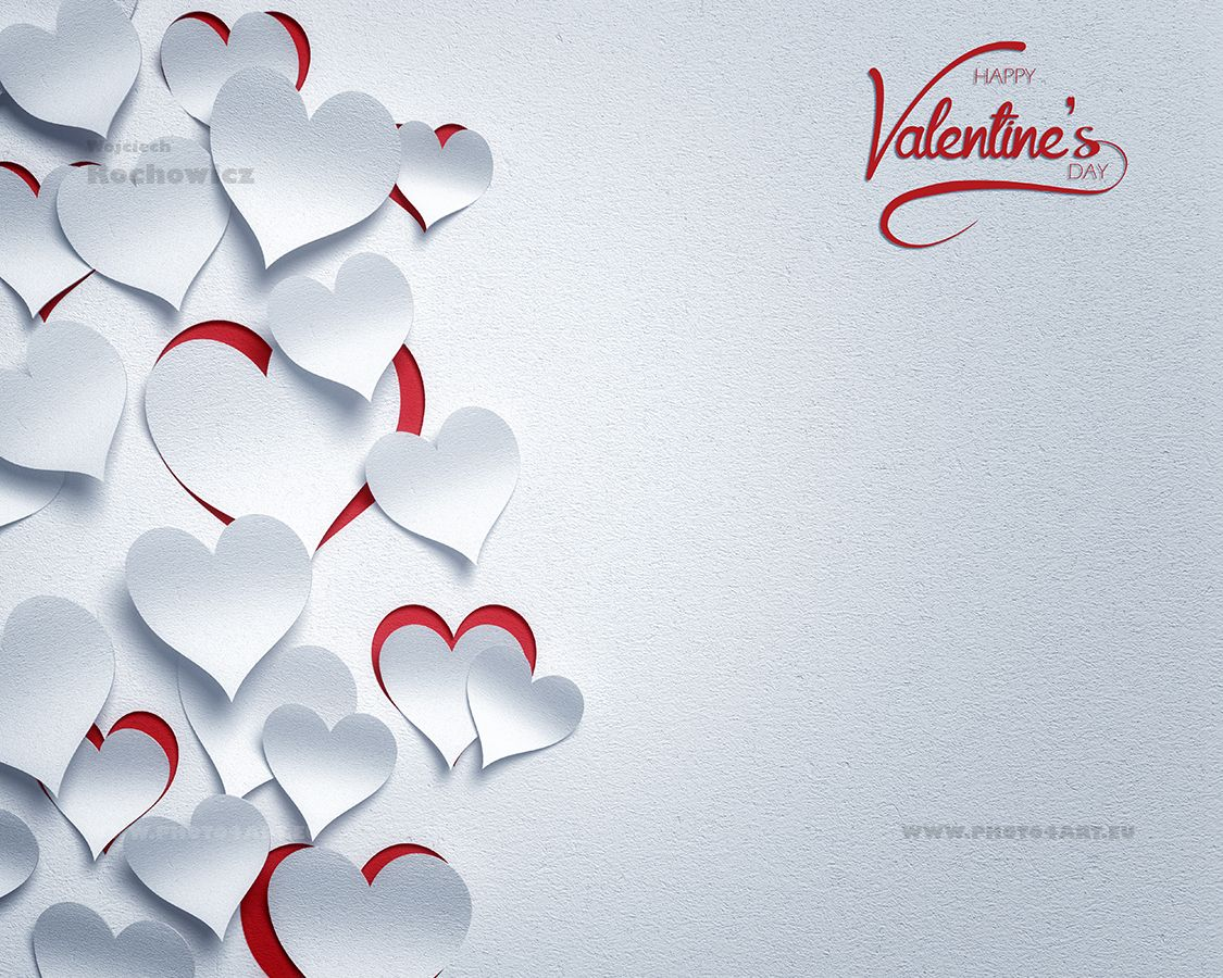 Paper Hearts Valentine S Day 3d Romantic Card Background You