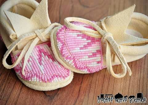 Baby moccasins for a pretty baby girl!!