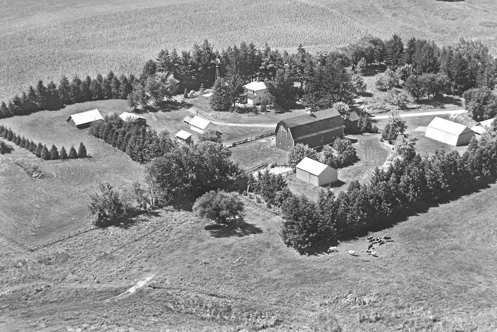 Historic Aerial Photography Of Rural American Farms And Homesteads Aerial Photography Aerial Photo Aerial