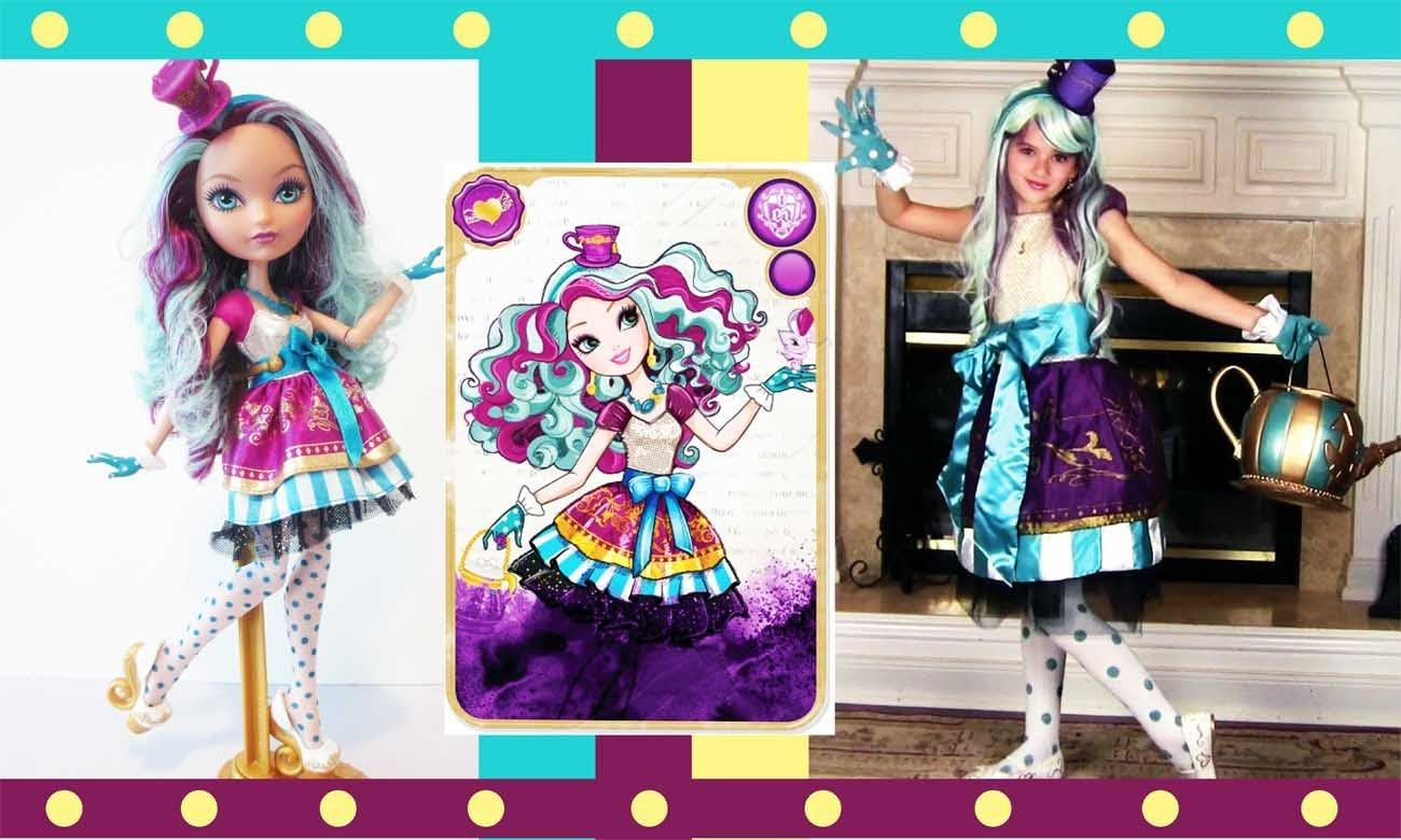 Ever After High Madeline Hatter Costume Tutorial with ...