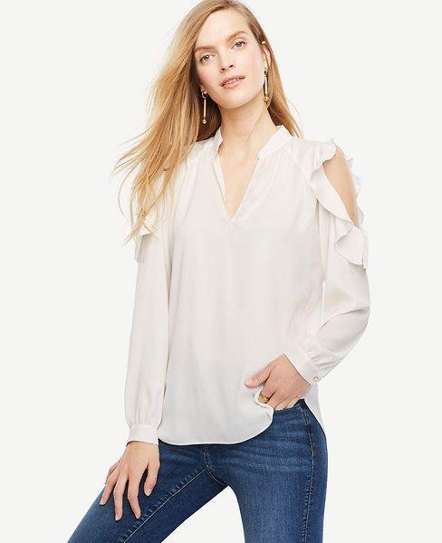 ce848d5c1150fb ANN TAYLOR Bare Shoulder Blouse.  anntaylor  cloth  blouse