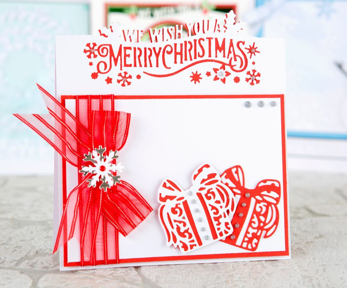 Merry Christmas! Festive card design embellished using the ...