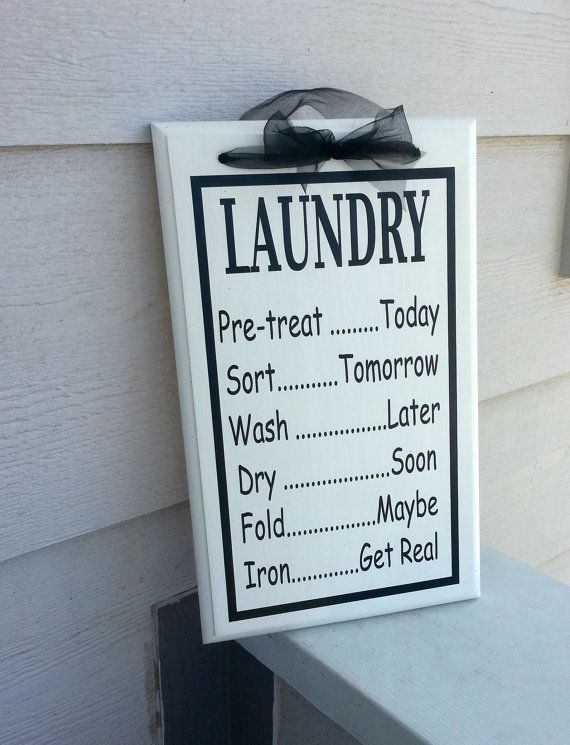 10x15 Room: Black And White Laundry Schedule Sign 10x15 By