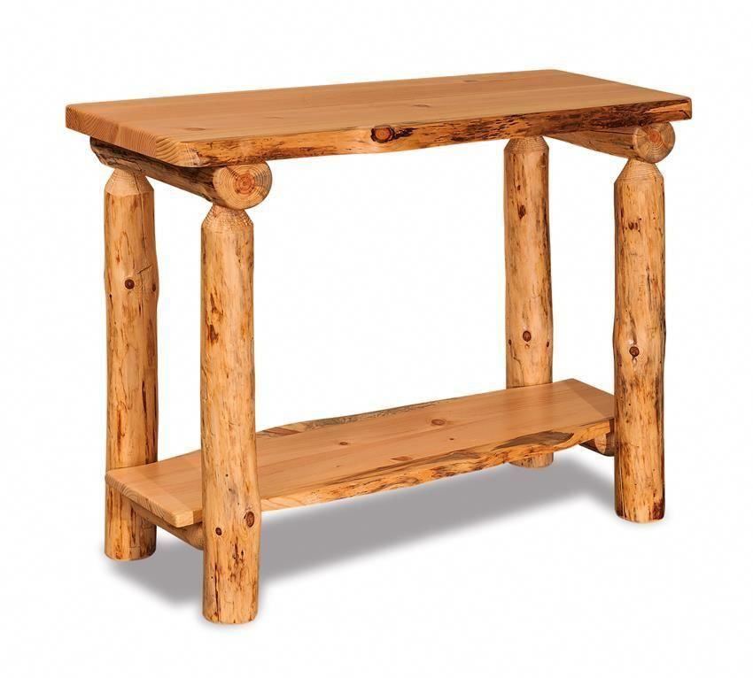 Pleasing Amish Log Furniture Pine Sofa Table Natural Rustic And Spiritservingveterans Wood Chair Design Ideas Spiritservingveteransorg