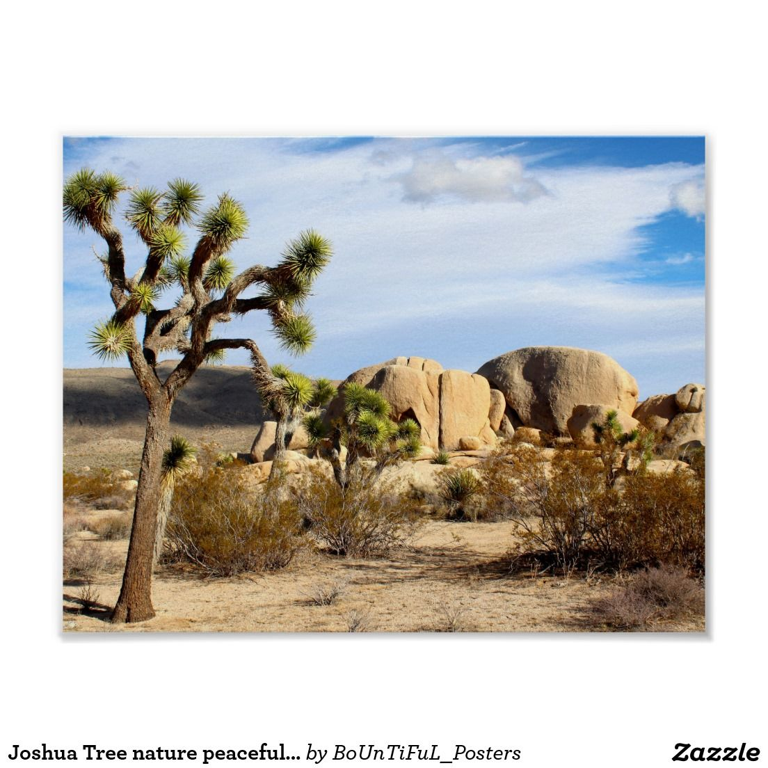 Joshua Tree nature peaceful park gold golden Poster