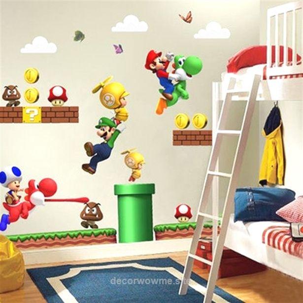 super mario bros wall decals (kids & nursery room removable pvc