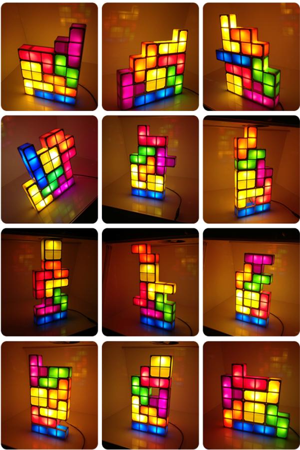 Tetris Constructible Desk Lamp Light Puzzle Lights Desk Lamp Led Desk Lamp