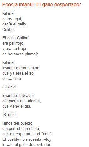 El gallo despertador de Gloria Fuertes (poeta madrileña) Se puede ...