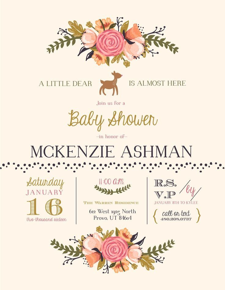 Cute baby shower invitation with a woodsy theme! We loved the ...