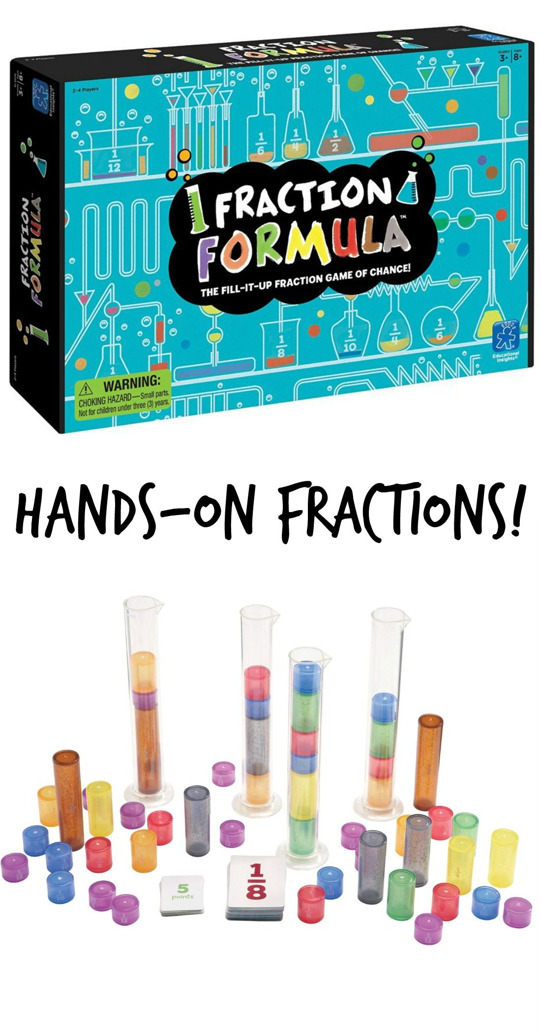 Fraction Learning Game Fun Hands On Fraction Idea For