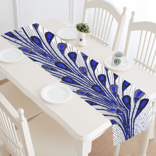 Blue Peacock Table Runner 16x72 inch Table runners