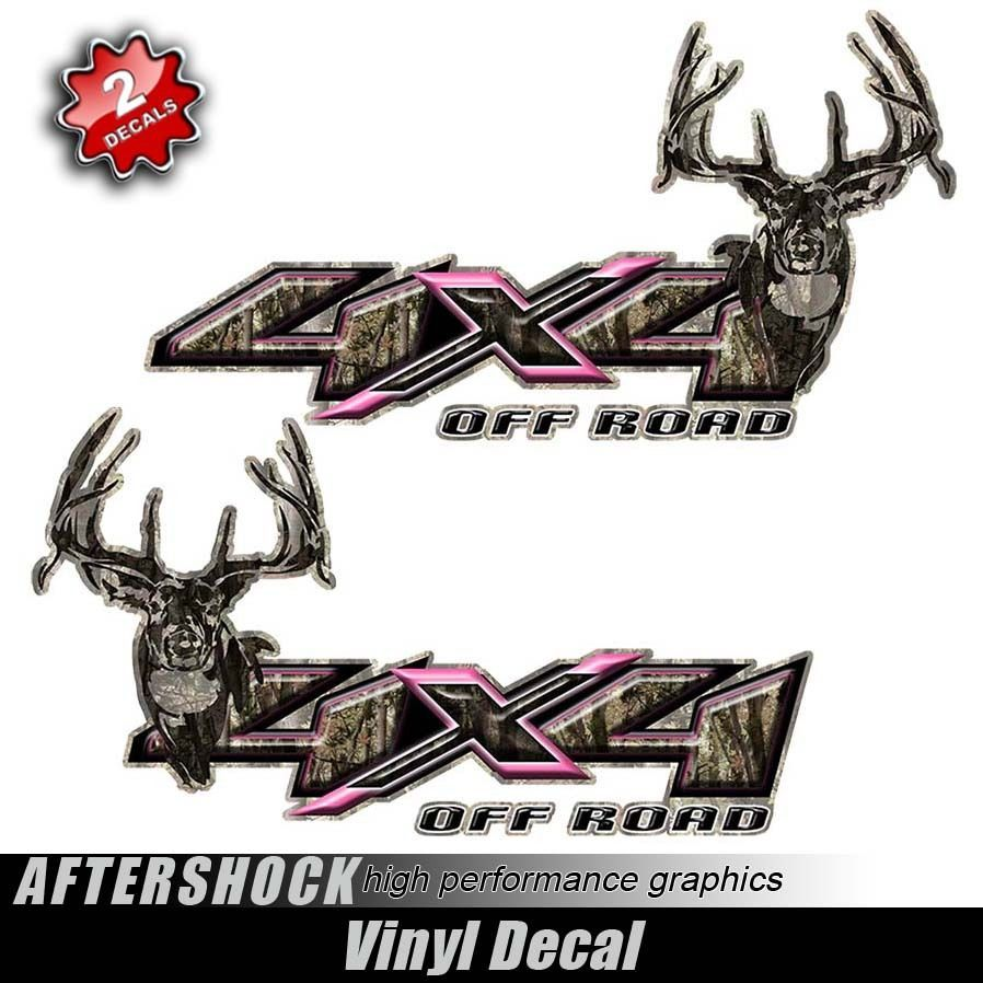 Pink Camo 4x4 Truck Hunting Decal Girl Sticker For My