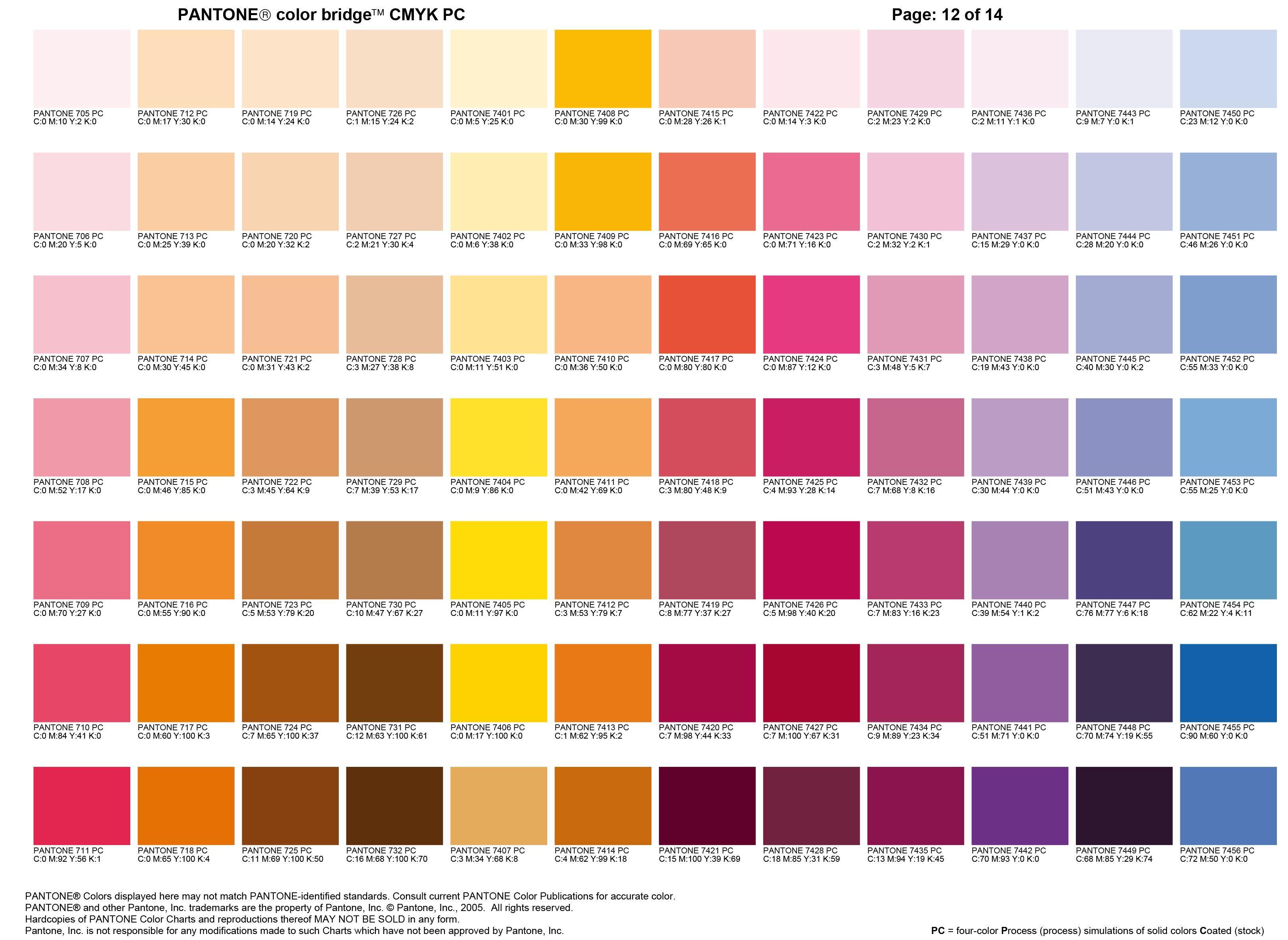 Carta Color Pantone 12 Color Pantone Chart 12 Pantone Carta Pantone Paletas De Colores