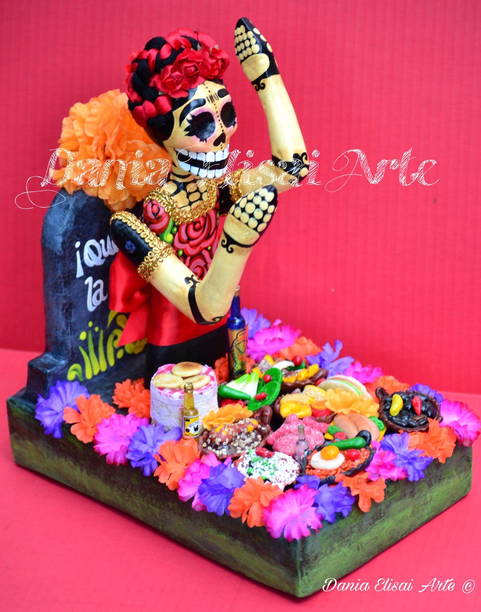 CORONA DE CATRINA | adornos muertos y navideños | Pinterest | Craft ...