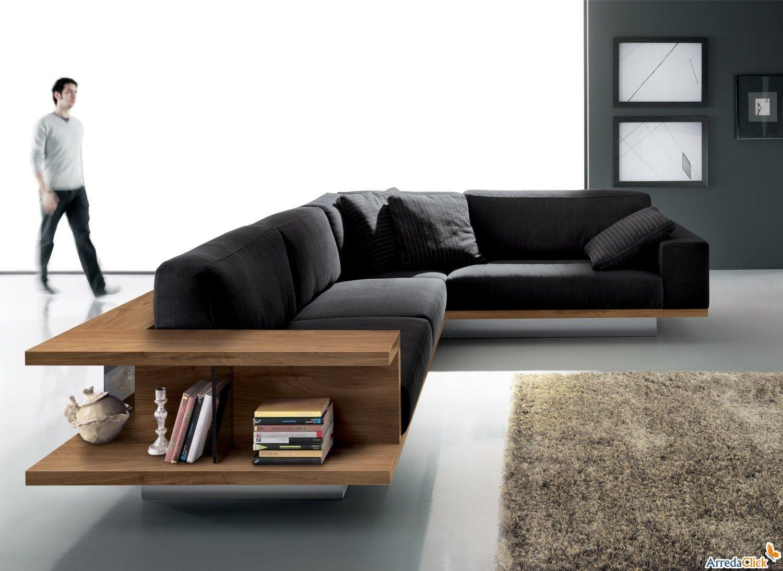 Divano angolare yang con libreria arredaclick divani for Sofa divano