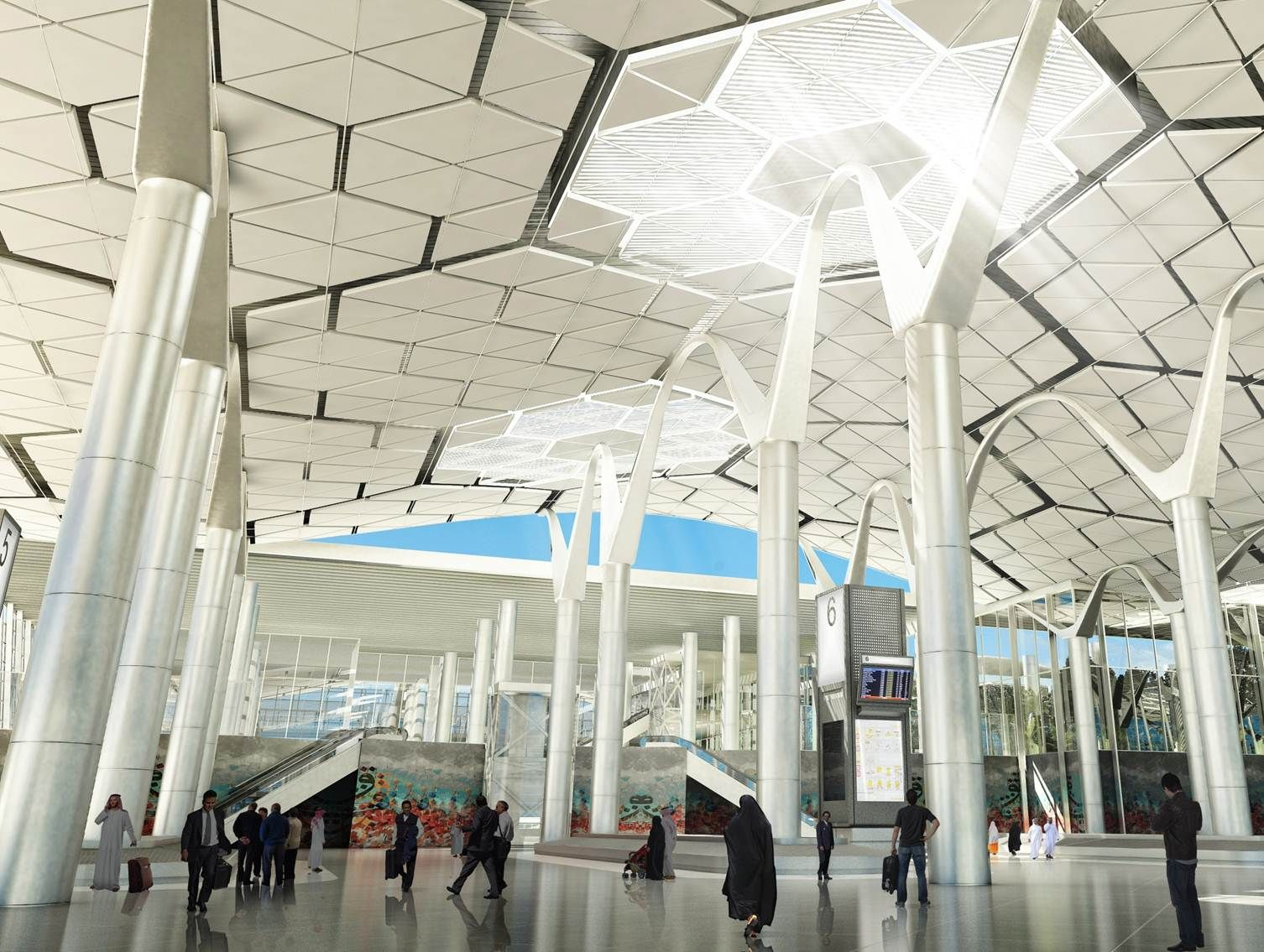 Woods Bagot Terminal 5 KKIA Riyadh Saudi Arabia Architecture