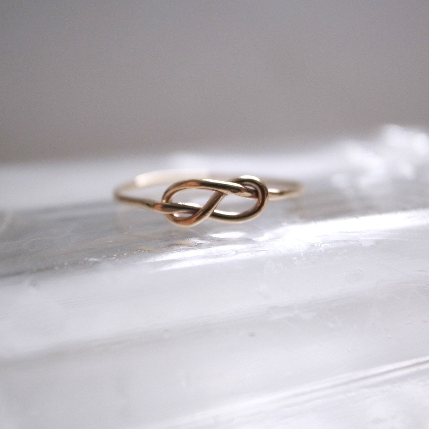 Infinity ring- 14k gold filled. $18.00, via Etsy.