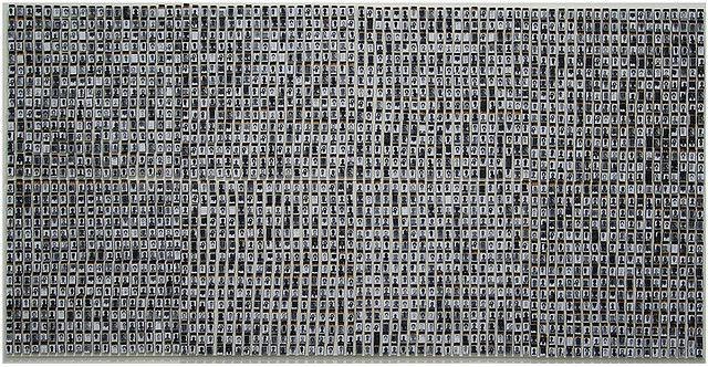 Este trabalho tem 4mx2m e será exposto na Bienal de Valência...na Espanha!    Foram gastas cerca de 3000 caixinhas de fósforo..com todos os seus respectivos 40 fósforos queimados.    agradeço a turma que me ajudou durante as madrugadas de trampo!!