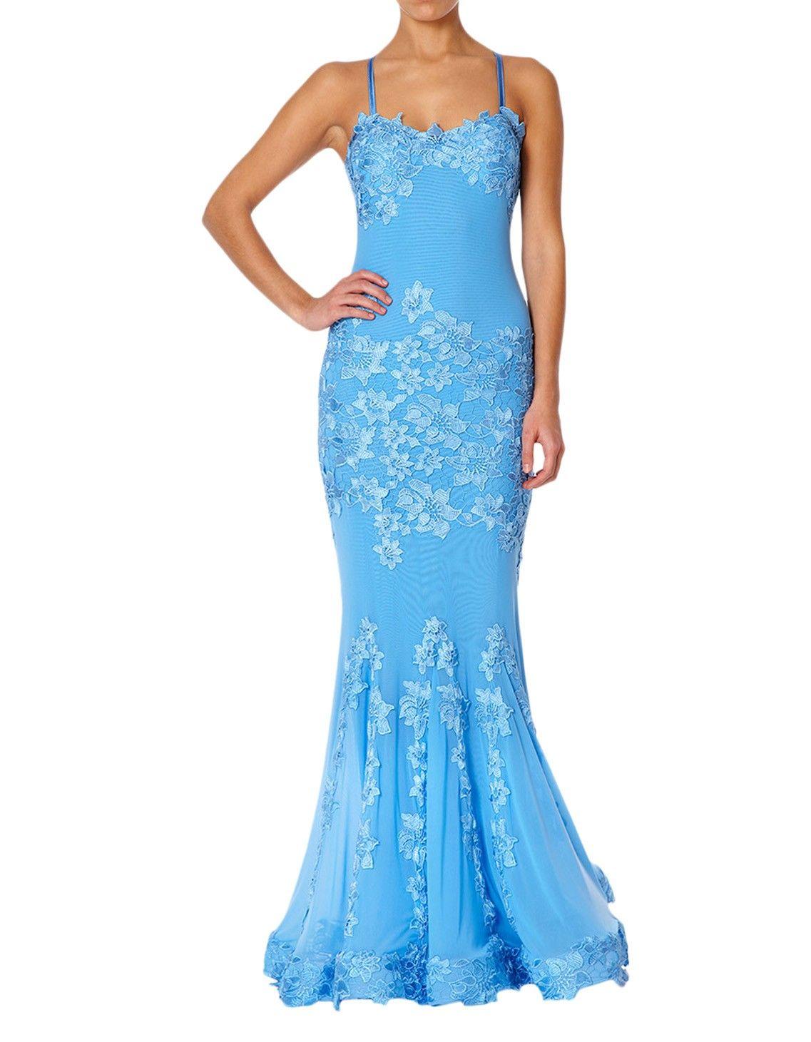 Forever unique blue porsia long dress accent clothing dresses to