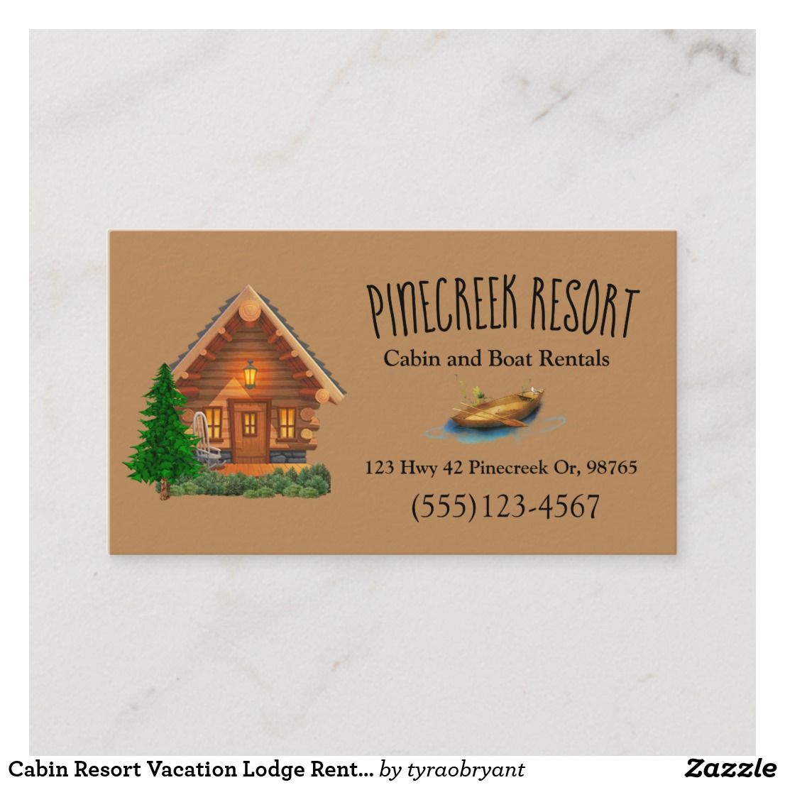 Cabin Resort Vacation Lodge Rental Business Card Zazzle