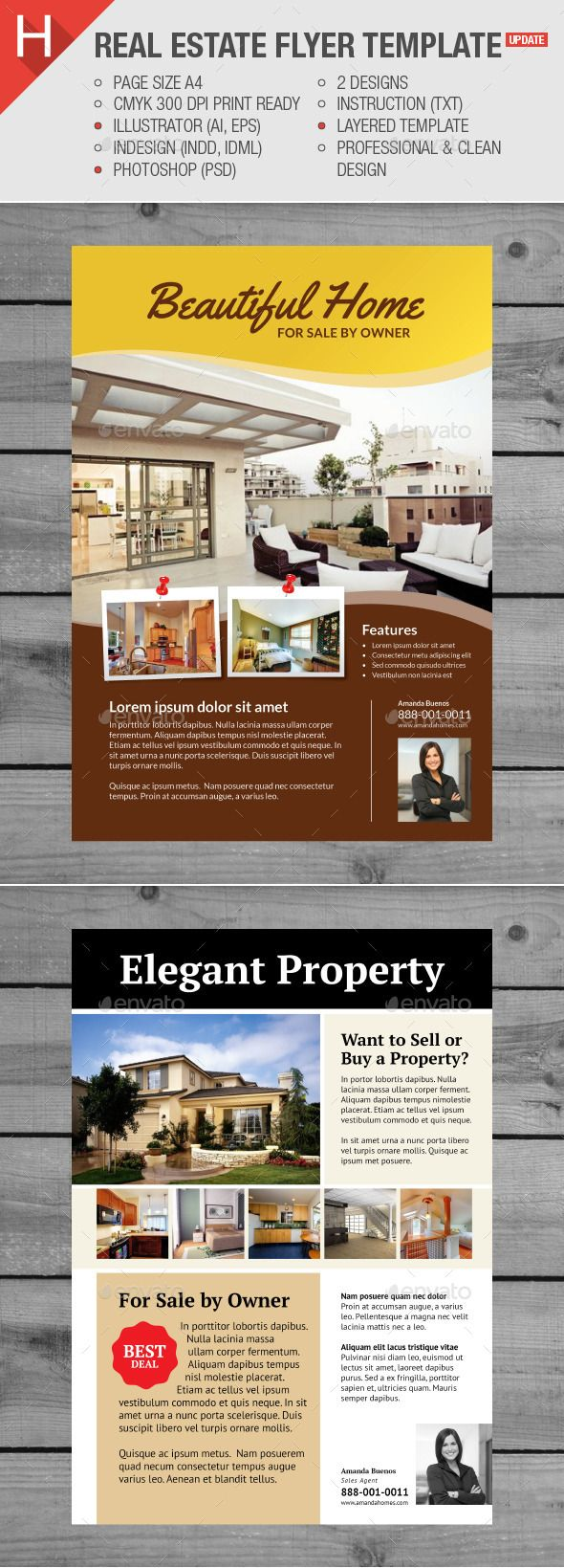 Real Estate Flyer Template Pinterest Real Estate Flyers Flyer - Photoshop real estate flyer templates