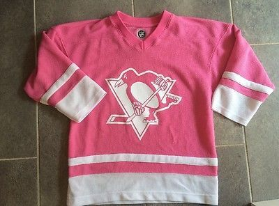 Pittsburgh Penguins Girls Youth Pink Jersey NHL SIZE Large 10-12 HOCKEY 96513b8bb
