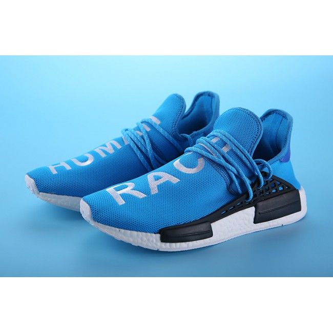 5bb8a6aff Adidas NMD Human Race Blue White Sell at a Discount