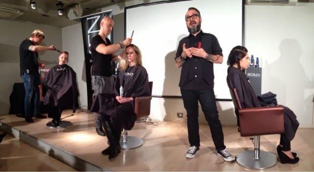 Night With Redken -koulutus 2.10.2013 Lavalla: Samu, Ville Kärkkäinen sekä Jukka Tikkinen