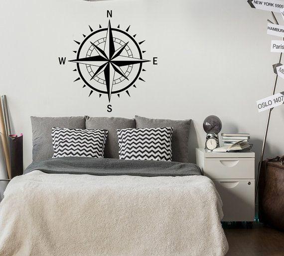 Compas A Mur Rose Sticker Chambre Nautique Decor Nautique