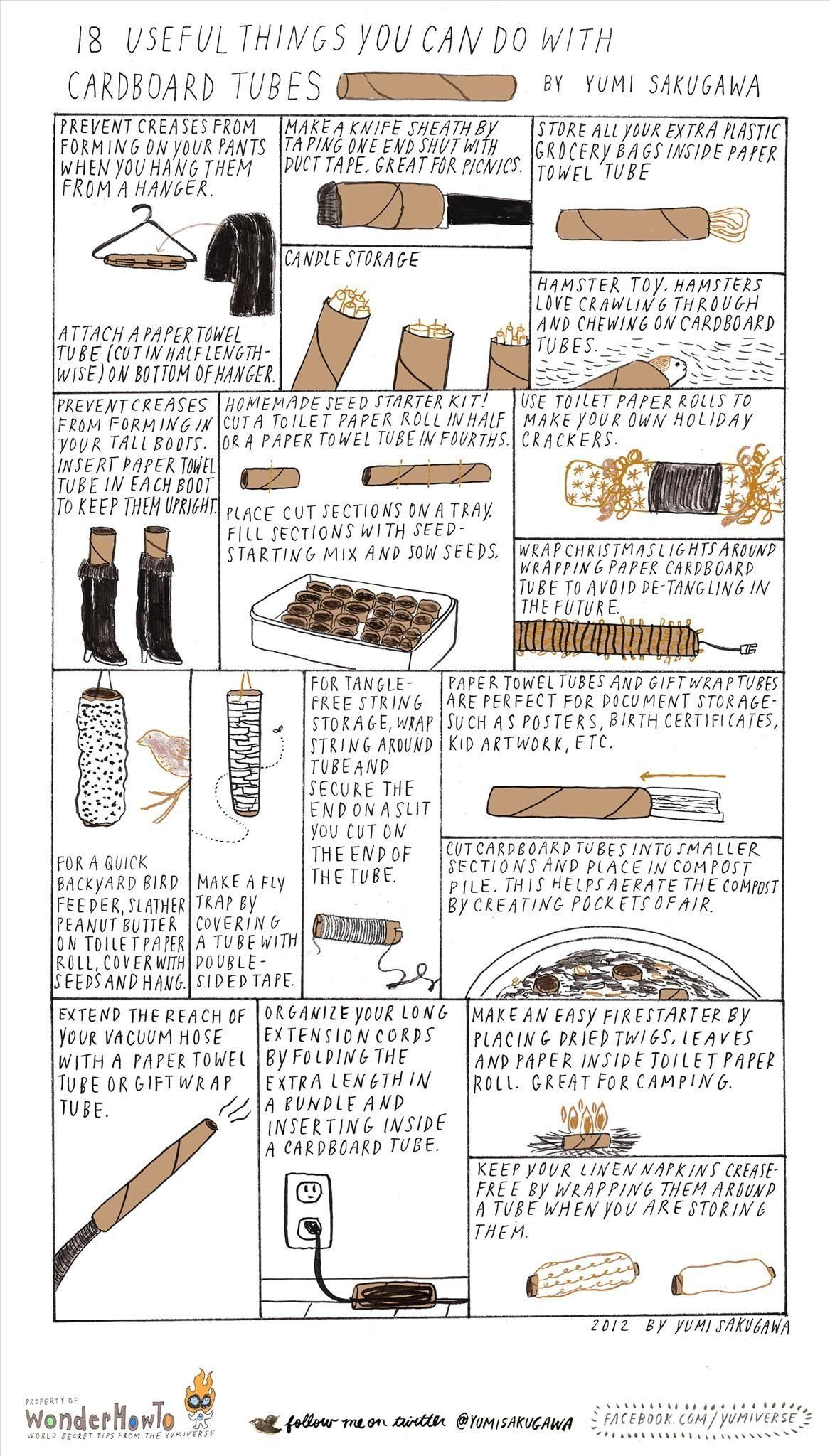 18 Useful Things You Can Do With A Cardboard Tube With Images