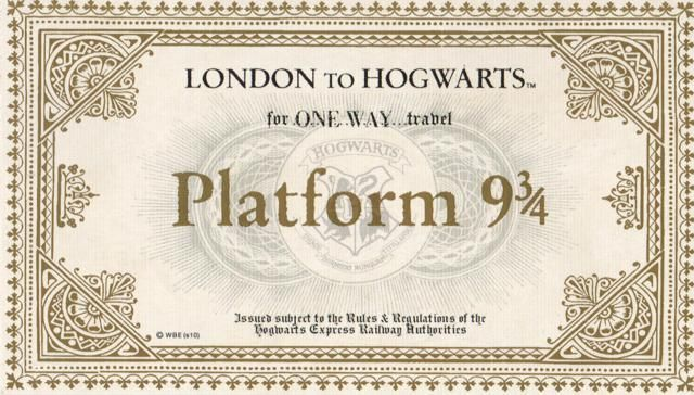 It is an image of Hogwarts Express Ticket Printable throughout downloadable pdf harry potter free