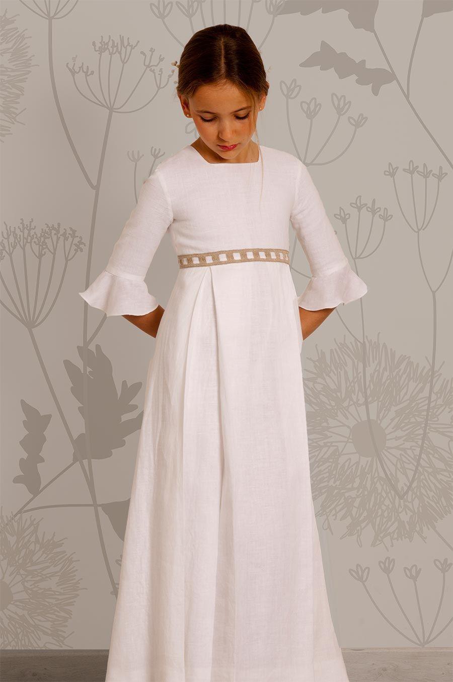 0461cbf98 Vestidos comunión niña | tunica Pau | Vestidos comunion niña ...