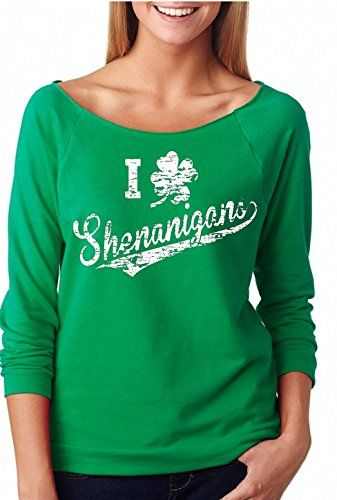 d07fc77c9 Womens I Clover Shenanigans St Patricks Day Off The Shoulder Top Plus Size  3XLarge Kelly Green -- Want to know more, click on the image.