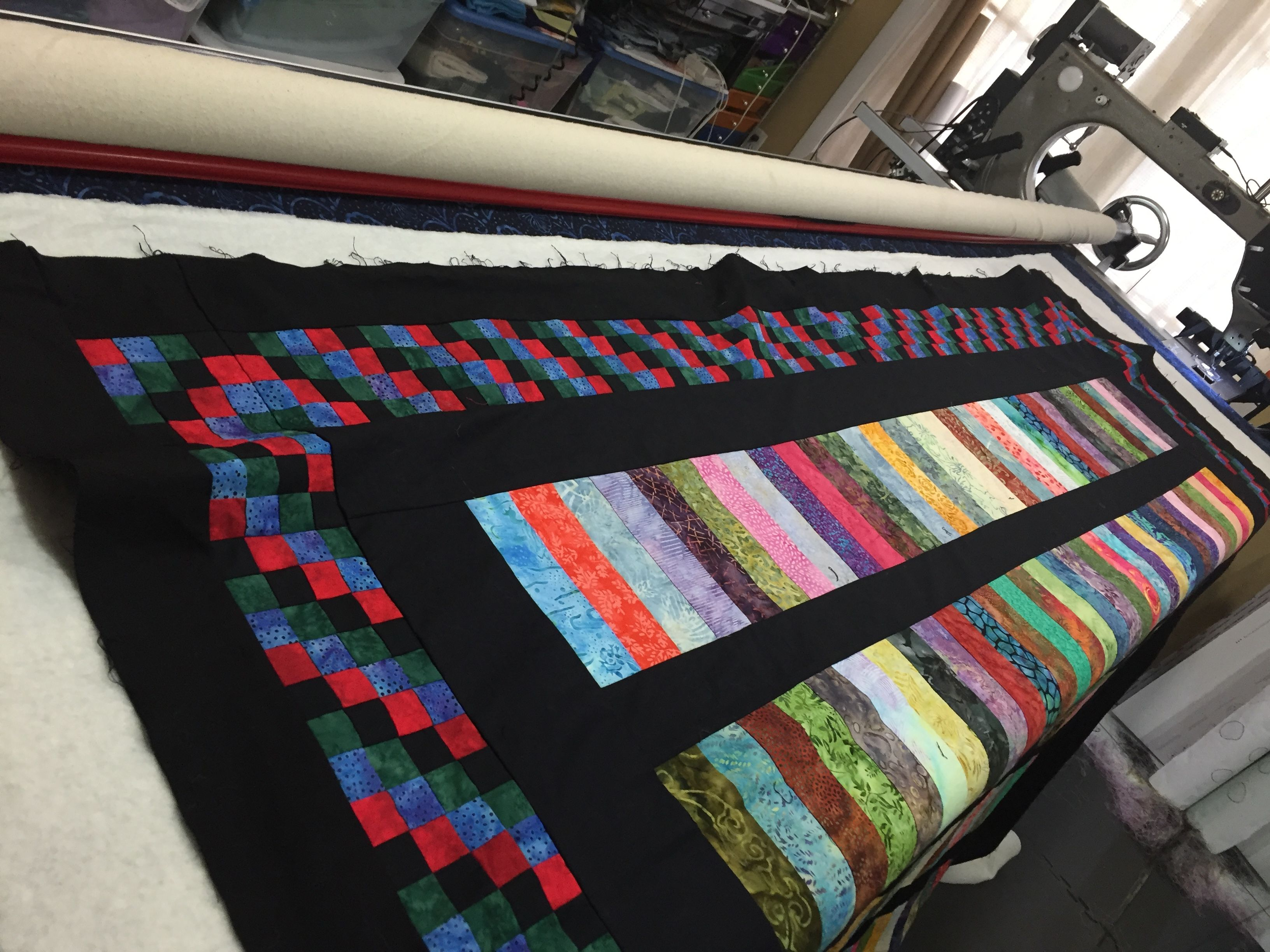 Basting a Quilt Top Square |