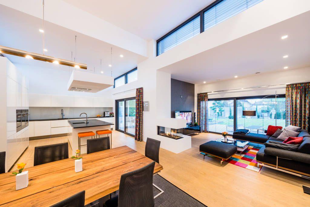 Moderne Wohnzimmer Bilder Kaskadenhaus - Einfamilienwohnhaus in - moderne bilder wohnzimmer