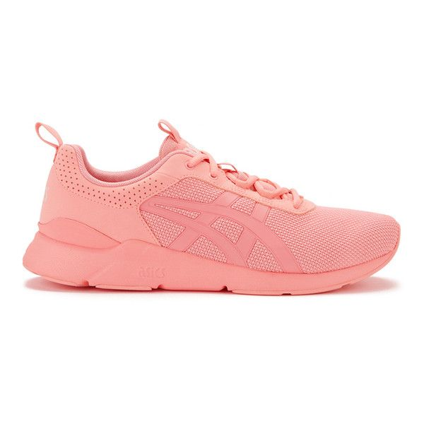 Asics Women's Gel-Lyte Runner Trainers - Peach Amber (£65) ❤ liked on Polyvore featuring shoes, orange, cuff shoes, peach shoes, perforated shoes, asics shoes and orange shoes